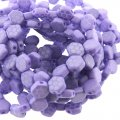 Czech Glass Honeycomb Beads 2-Hole 6mm 30 Pcs Laser Core Violet