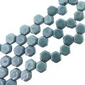 Czech Glass Honeycomb Beads 2-Hole 6mm 30 Pcs Chalk Blue Luster