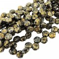 Czech Glass Honeycomb Beads 2-Hole 6mm 30 Pcs Tweedy Gold