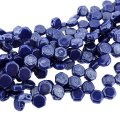 Czech Glass Honeycomb Beads 2-Hole 6mm 30 Pcs Royal Blue Luster