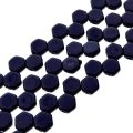 Czech Glass Honeycomb Beads 2-Hole 6mm 30 Pcs Navy Blue