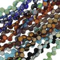 Assortment Czech Glass Honeycomb Beads 6mm, Value Pack 8 Strand