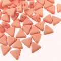 Kheops Puca Beads 2-hole 6mm 9GM - Opaque Light Peach Silk