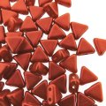 Kheops Puca Beads 2-hole 6mm 9GM - Red Metallic Mat