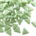 Kheops Puca Beads 2-hole 6mm 9GM - Opaque Lt Green Luster