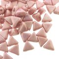 Kheops Puca Beads 2-hole 6mm 9GM - Opaque Light Rose Luster