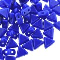 Kheops Puca Beads 2-hole 6mm 9GM - Opaque Sapphire Blue