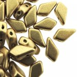 Kite Beads 2-Hole 9x5mm 9GM - Pale Gold