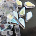 Kite Beads 2-Hole 9x5mm 9GM - Crystal AB