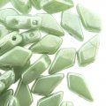 Kite Beads 2-Hole 9x5mm 9GM - Chalk Green Luster