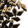 Kite Beads 2-Hole 9x5mm 9GM - Jet Dark Bronze