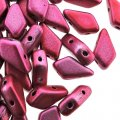 Kite Beads 2-Hole 9x5mm 9GM - Metalust Pink