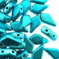 Kite Beads 2-Hole 9x5mm 9GM - Metalust Aqua