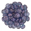 Lentil Beads 2-Hole 6mm - Luster Transparent Amy 50pcs