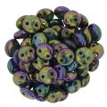 Lentil Beads 2-Hole 6mm - Purple Iris 50pcs