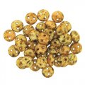 Lentil Beads 2-Hole 6mm - Butter Pecan 50pcs