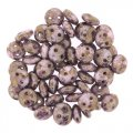 Lentil Beads 2-Hole 6mm - White Terracotta 50pcs