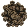 Lentil Beads 2-Hole 6mm - Dark Bronze (50)
