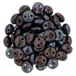 Lentil Beads 2-Hole 6mm - Luster Metallic Amy 50pcs
