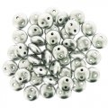 Lentil Beads 2-Hole 6mm - Matte Silver 50pcs