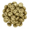 Lentil Beads 2-Hole 6mm - Matte Metallic Flax 50pcs