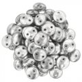Lentil Beads 2-Hole 6mm - Silver (50)
