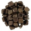 Tile Beads 6mm Square 2-Hole - Dark Bronze (25)