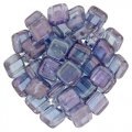 Tile Beads 6mm Square 2-Hole - Luster Transparent Amy (25)