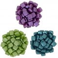 Czechmate 6mm Square 2-Hole Tile Beads - 3 Color Dk Pastels Mix