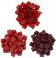Czechmate 6mm Square 2-Hole Tile Beads - 3 Color Red Combo