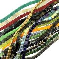 10 Strand Value Pack Czech Glass Square 2-Hole Tile Beads Assrt