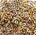 Czech O-Beads 3.8 mm x 1 mm Metallic Mix 8.1g