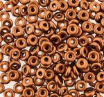 Czech O-Beads 3.8 mm x 1 mm Copper 8.1g