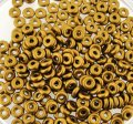 Czech O-Beads 3.8 mm x 1 mm Brass Gold 8.1g