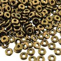 Czech O-Beads 3.8 mm x 1 mm Jet Bronze 8.1g