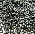 Czech O-Beads 3.8 mm x 1 mm Jet Black 8.1g