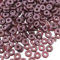 Czech O-Beads 3.8 mm x 1 mm Pastel Burgandy 8.1g