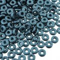 Czech O-Beads 3.8 mm x 1 mm Pastel Petrol 8.1g