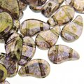 Czech Paisley Duo Beads 8x5mm 10GM Crystal Senegal Brown