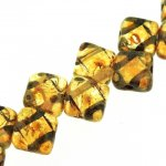 Czech Glass 2-hole Silky Beads 6mm (40) Crystal Picasso