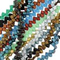 10 Strand Value Pack Czech Glass 2-hole Silky Beads 6mm Assorted