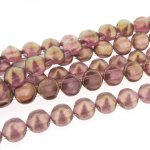 Czech Tipp 2-Hole Beads 8mm (20) - Halo Persian Pink