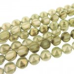 Czech Tipp 2-Hole Beads 8mm (20) - Halo Champagne