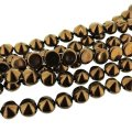 Czech Tipp 2-Hole Beads 8mm (20) - Jet Bronze