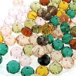 Crystal Faceted Rondelle Beads 8X10mm 100pcs Assortment