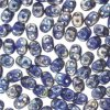 Czech SuperDuo Two-hole Beads 5.5x2.5mm Blue Rembrandt