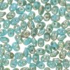 Czech SuperDuo Two-hole Beads 5.5x2.5mm Turquoise Blue Rembrandt