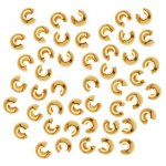 Beadsmith Crimp Covers 3mm Base Metal Gold Plated. Pack of 144