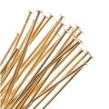 "BeadSmith Head Pins Gold Plated 1"" .029dia / 22 Gauge (144)"