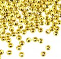 Spacer Beads Smooth Round 2.4mm Gold Plated. Pack of 600